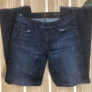 7 for all man kind hi waist bootcut 30
